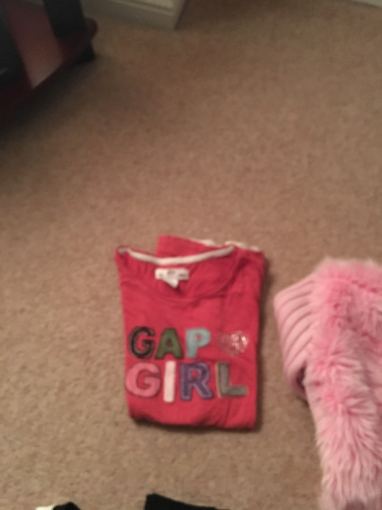 Gap new look tops age pink 11/12 and cream 14/15