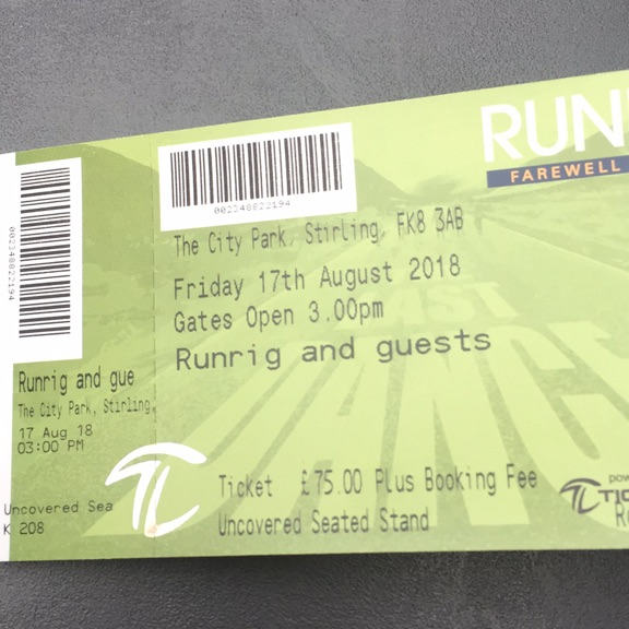 Runrig Tickets( seated) 17th August