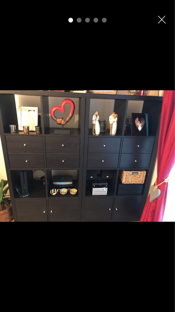 Black Wooden Storage Units/Displays 3x
