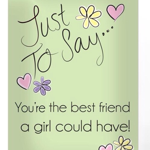 Personalised 'just to say' greeting card