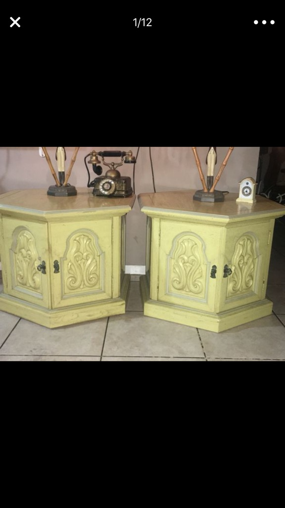 2 wooden nightstands 1968 Thomasville