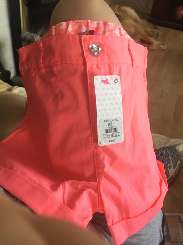 Little girls shorts brand new 5-6 years