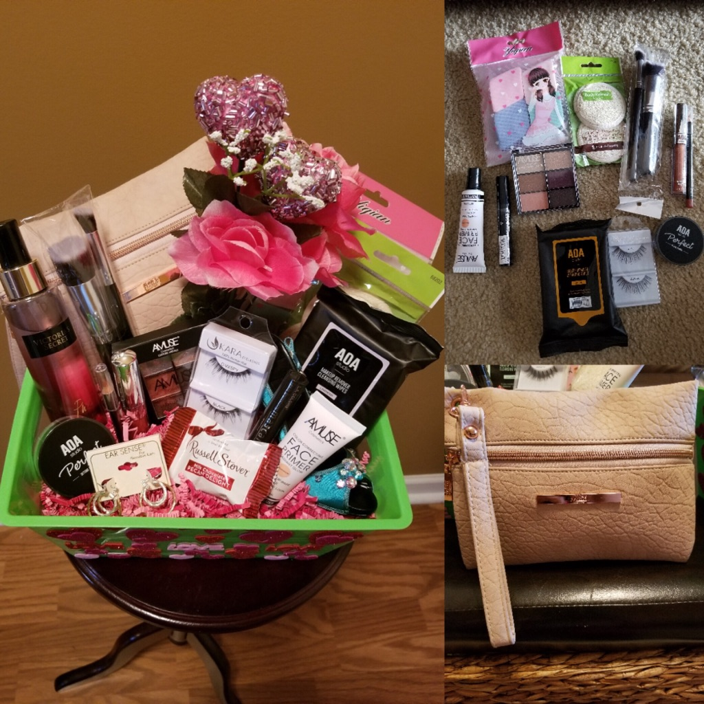 Valentines Makeup Basket
