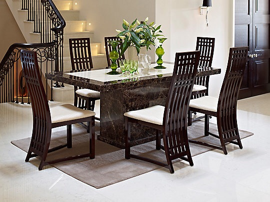 Marble Dining Table With 8 Chairs Village