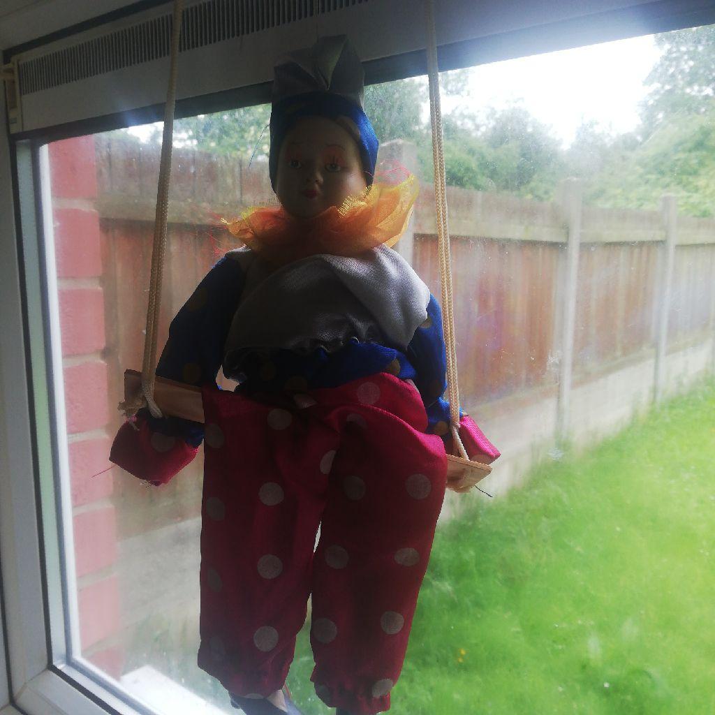 Clown pot doll