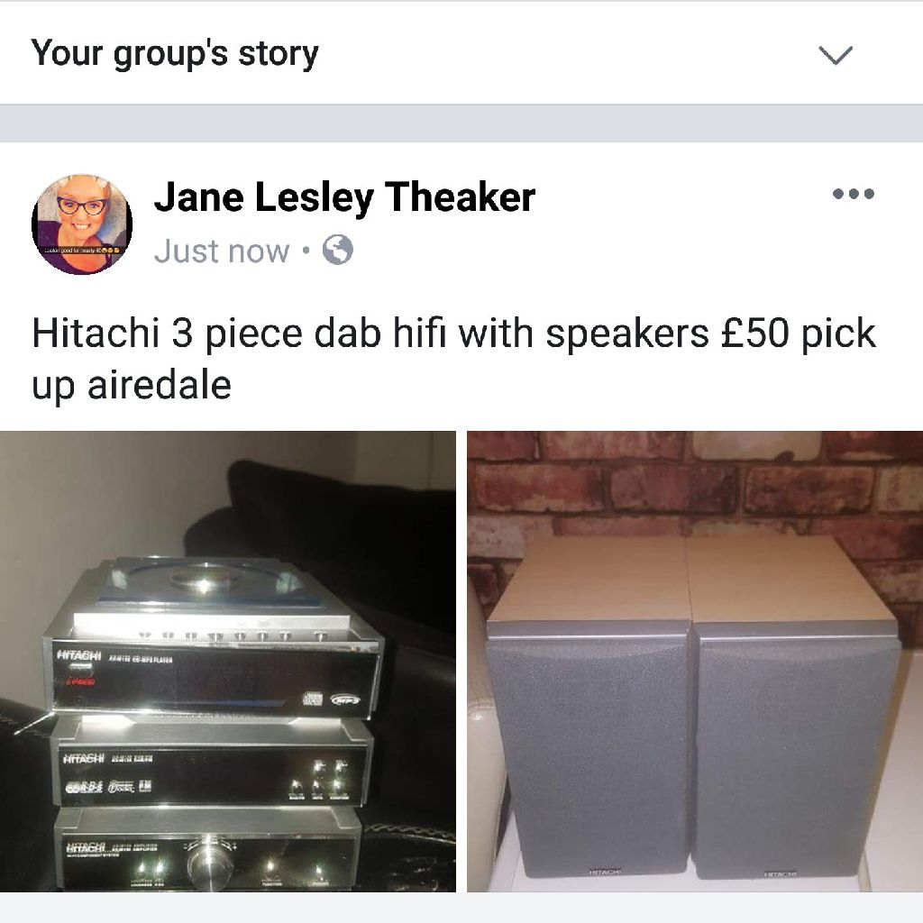 Hitachi dab cd radio with speakers