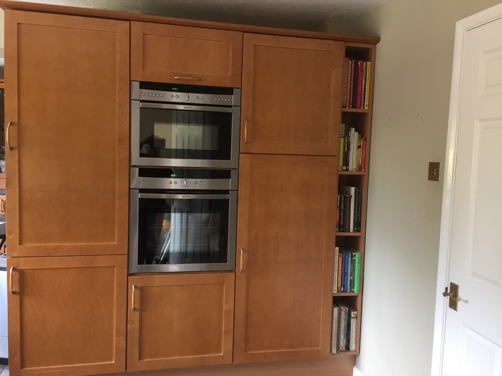 Shaker kitchen solid maple doors with appliances