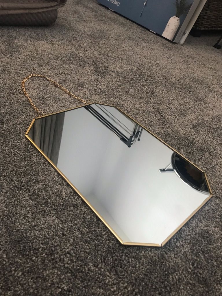 BRAND NEW gold mirror for sale
