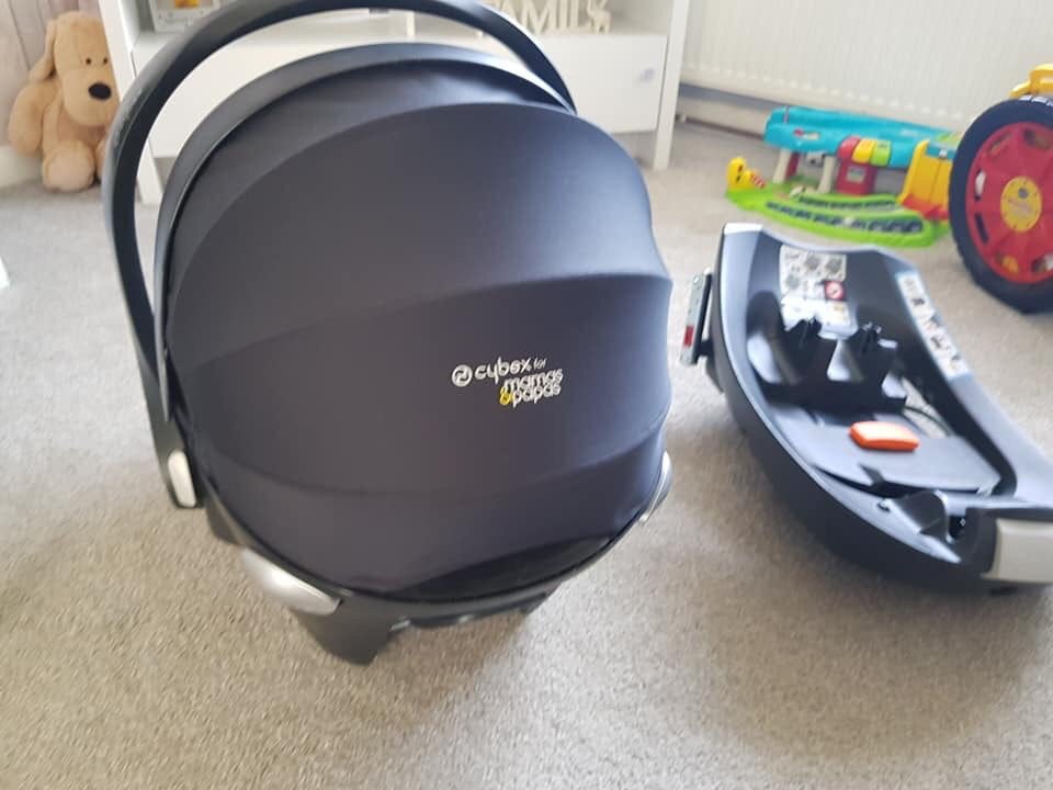 Cybex car seat and isofix base