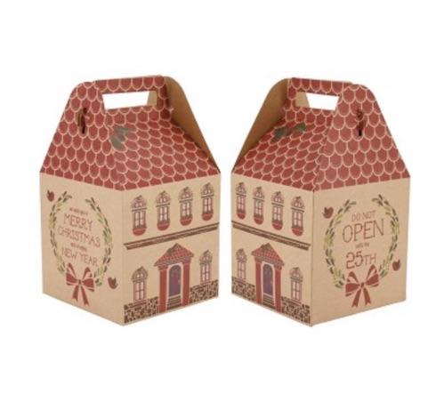 Medium Christmas house present box