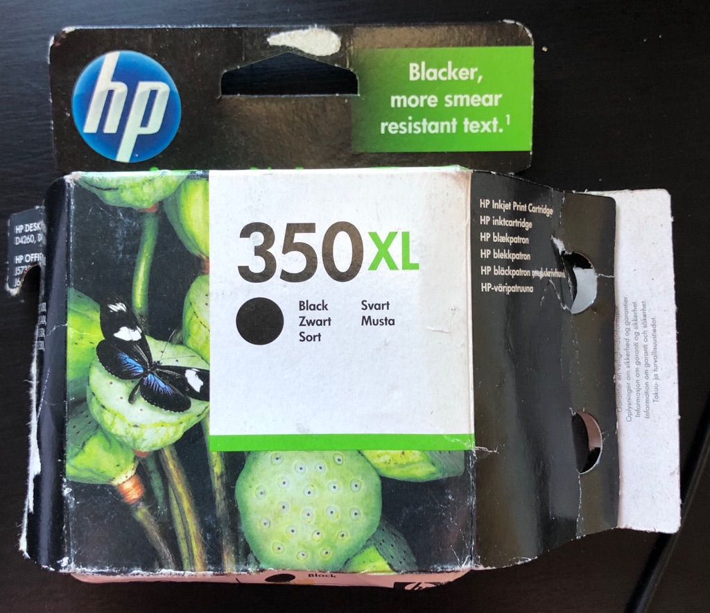 GENUINE HP 350XL BLACK INK CARTRIDGE