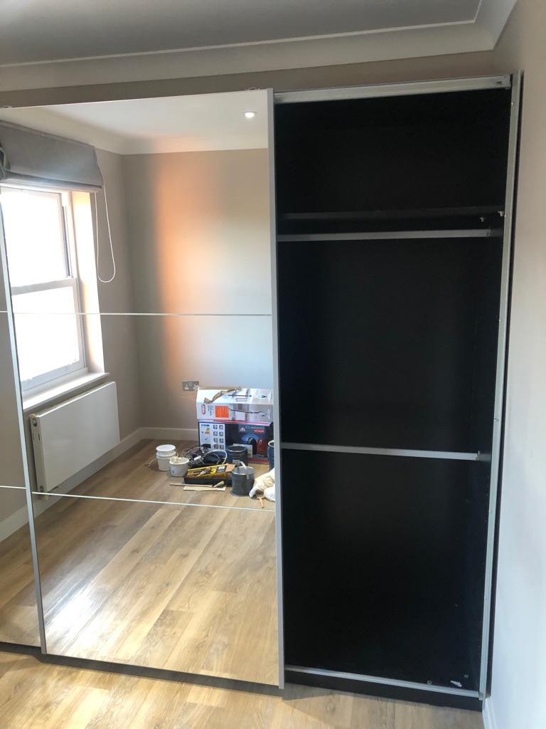 Large spacious 2 door sliding mirrored wardrobe from Next home - great condition