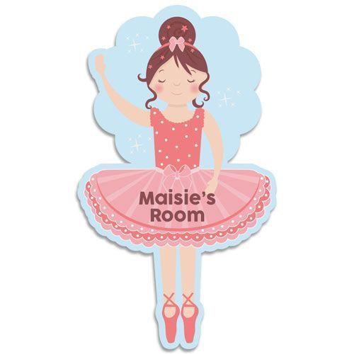 Ballerina bedroom door plaque