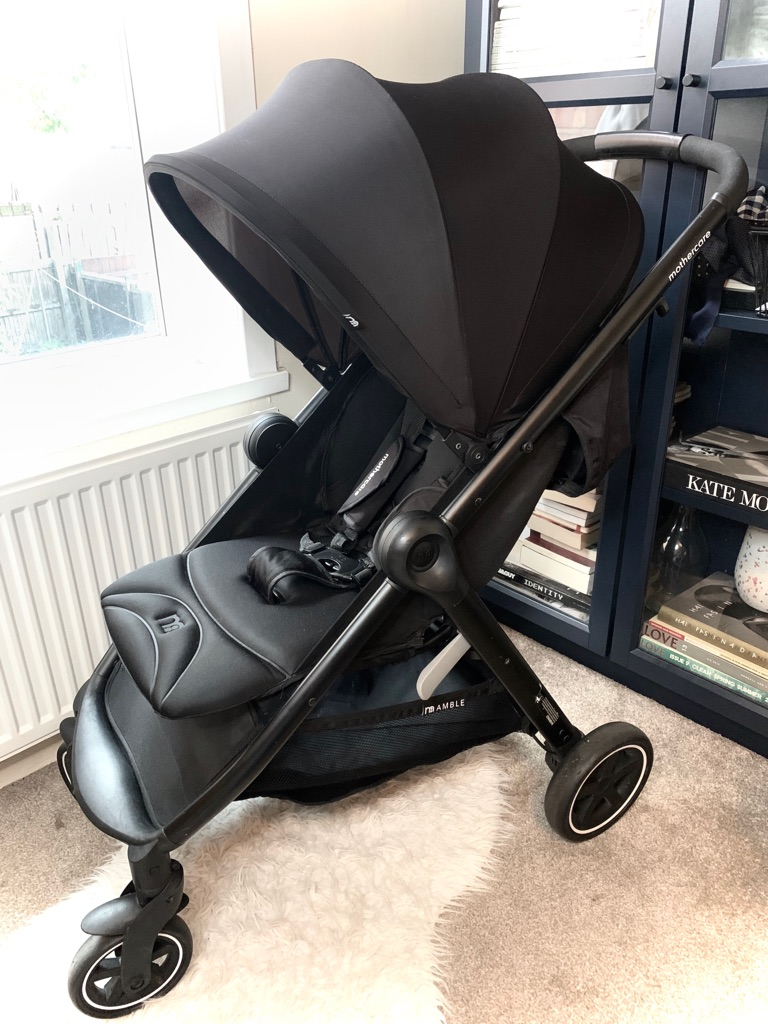 Mothercare Amble Stroller, Raincover, Footmug