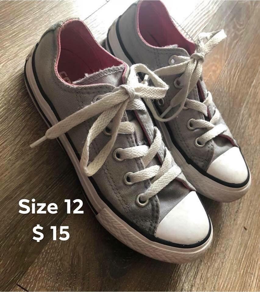 Girls size 12 Converse