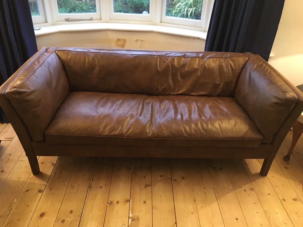 John Lewis Halo Groucho leather sofa RRP £1699