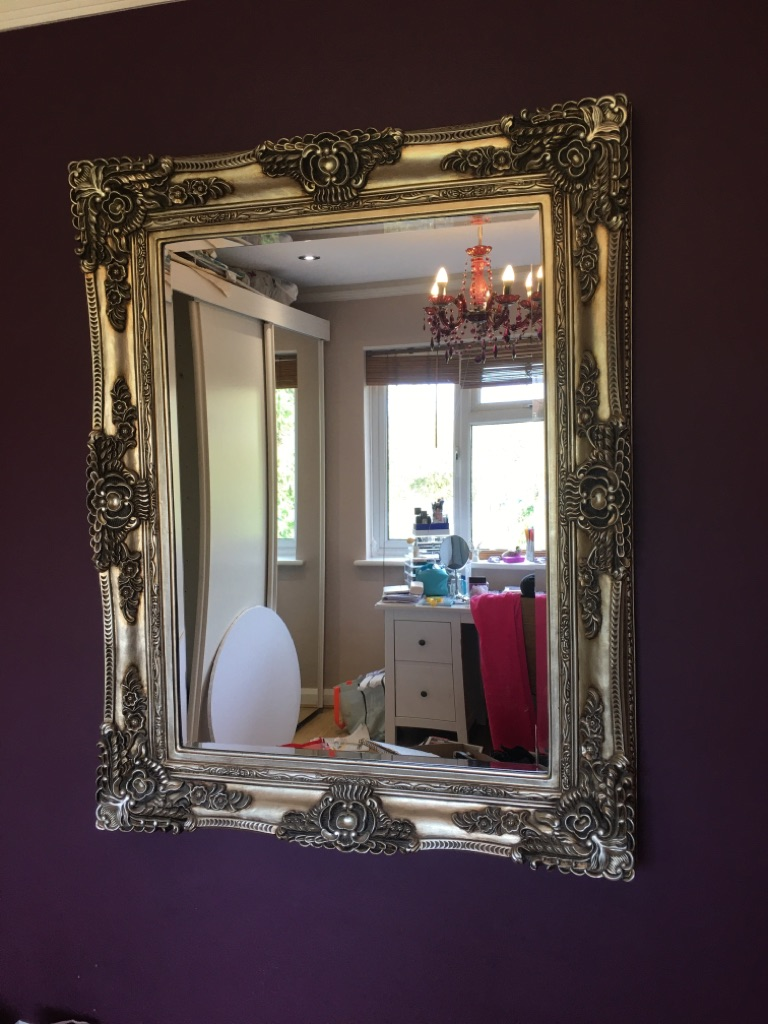Louis Mirror/ Chabby chic ornate mirror