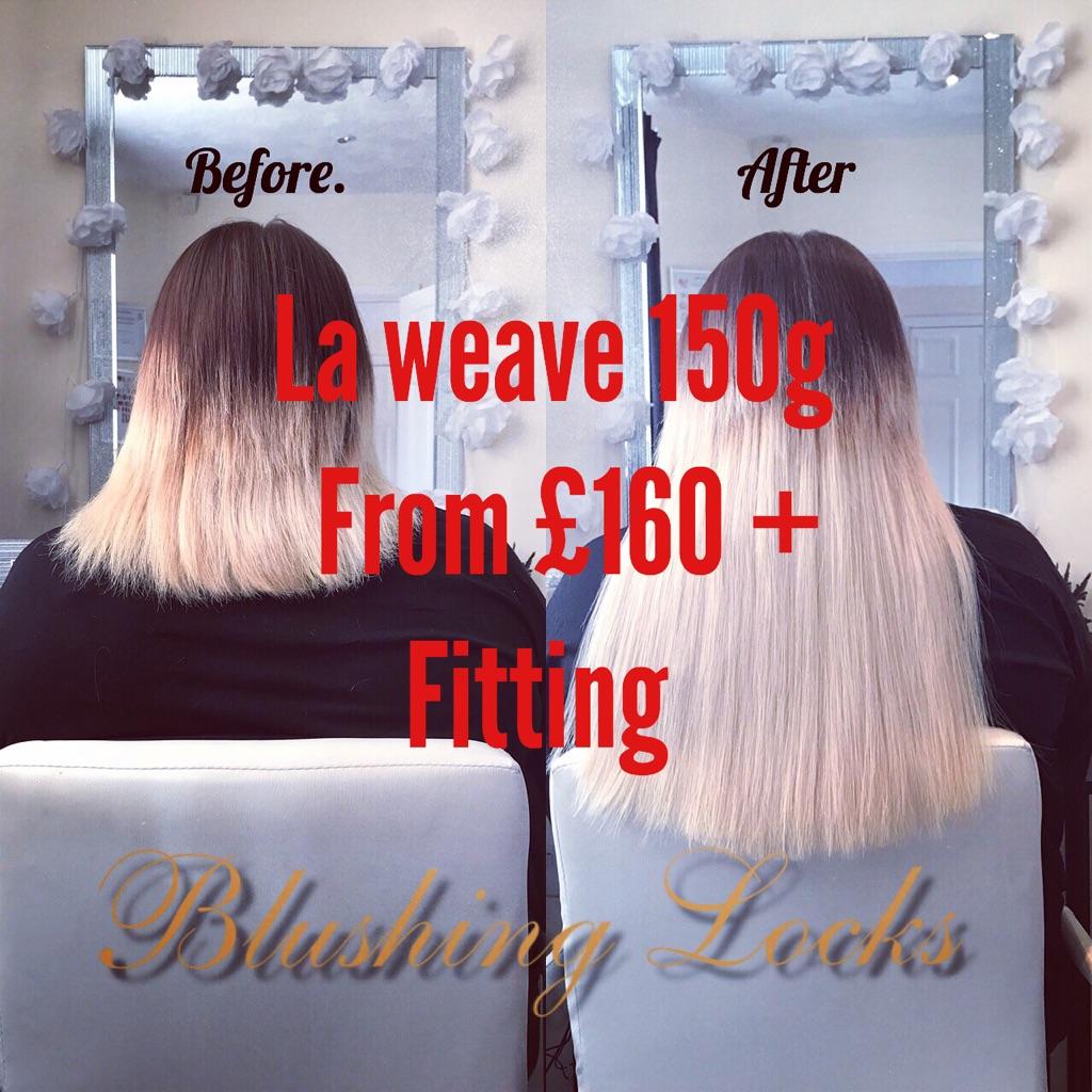 Hair extensions at Blushing Locks