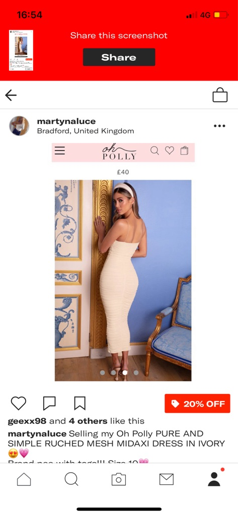 Oh Polly Pure and Simple ruched mesh midaxi dress in ivory🤩