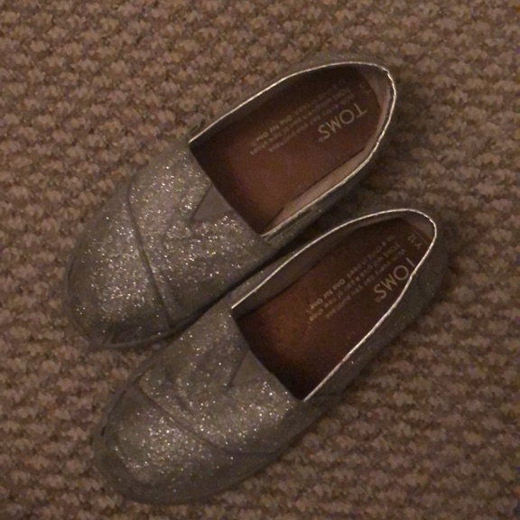 Sparkly Silver Official Toms