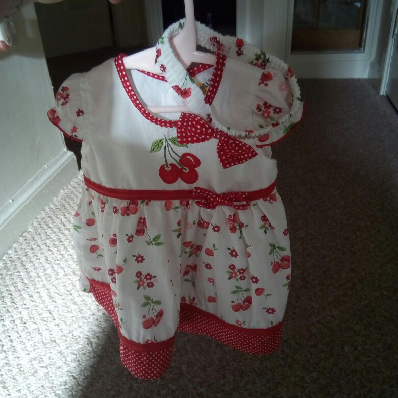 Little cherry dress and hair band