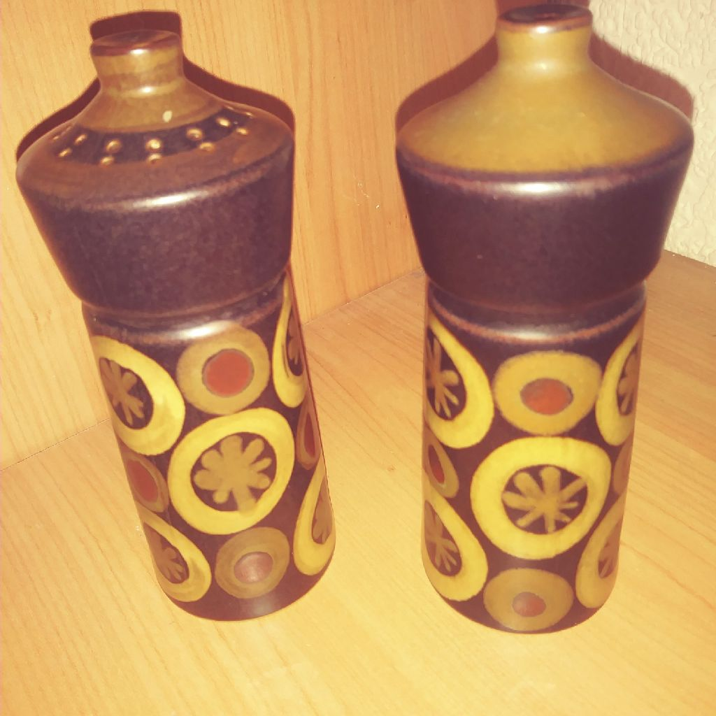 Denby Arabesque Salt And Pepper Pots