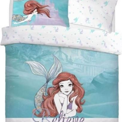 """Official Disney Little Mermaid Believe """"Reversible"""" Duvet Cover Bedding Set"""