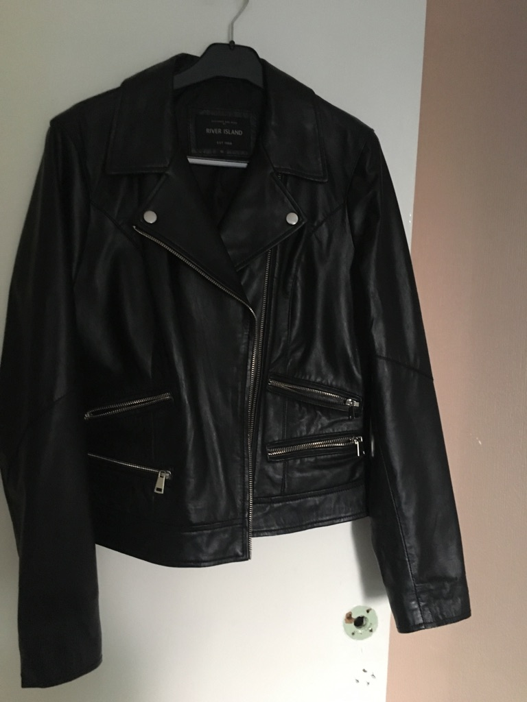Black leather jacket & various shoes/ boots