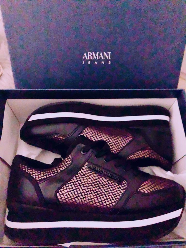 Armani Jeans Snake Platform Trainers