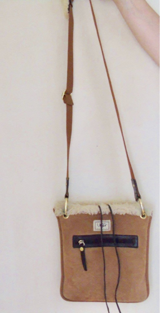 Ugg ZipTop shoulder tie bag