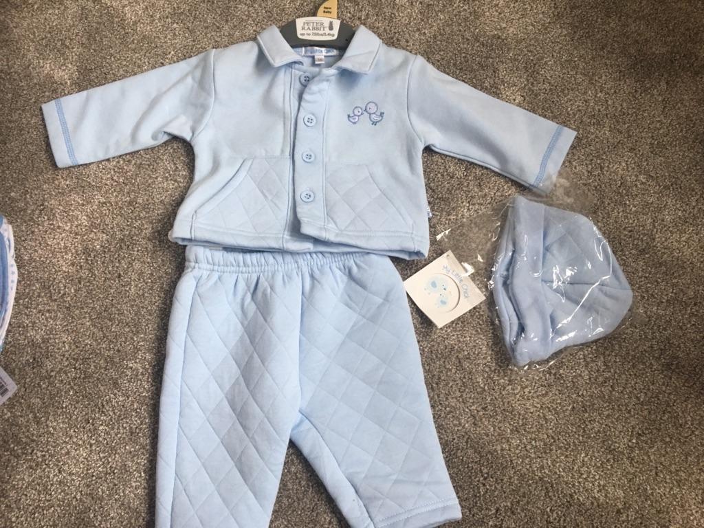 Baby boy newborn 3 piece outfit NEW
