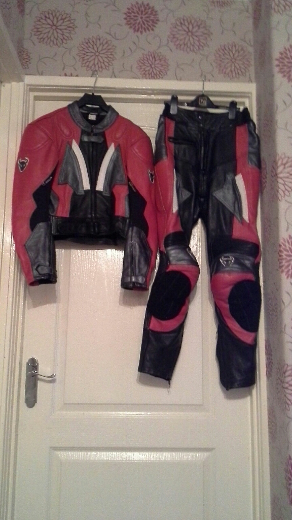 Motor bike jacket and  trousers