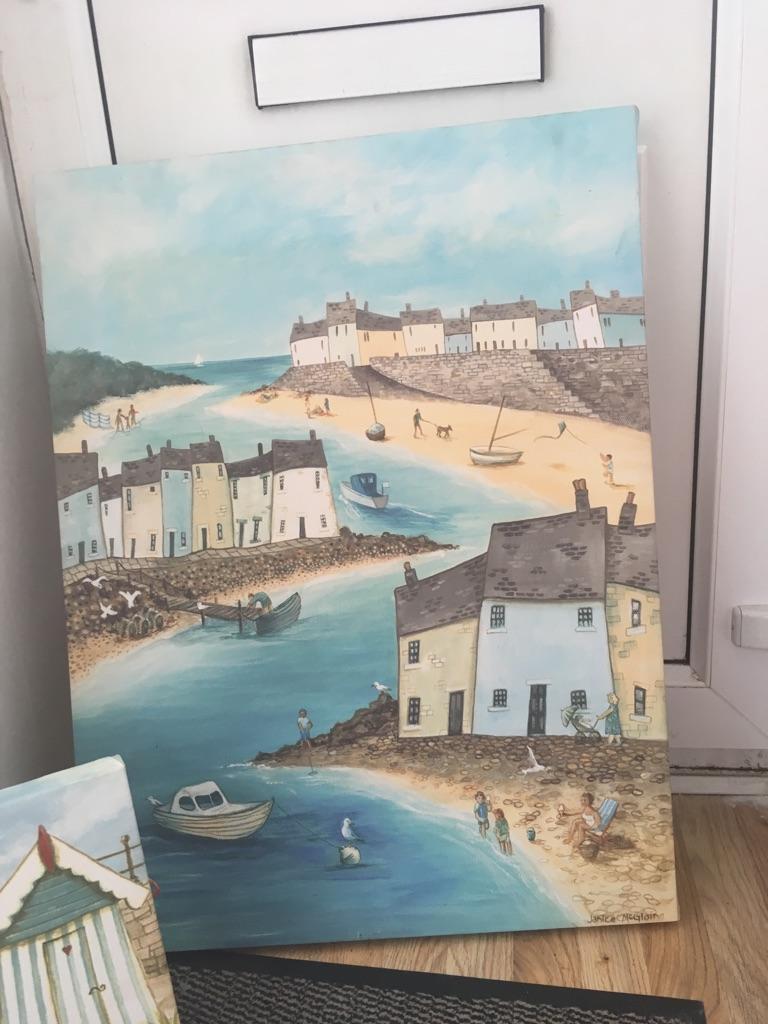 Large canvas of seaside