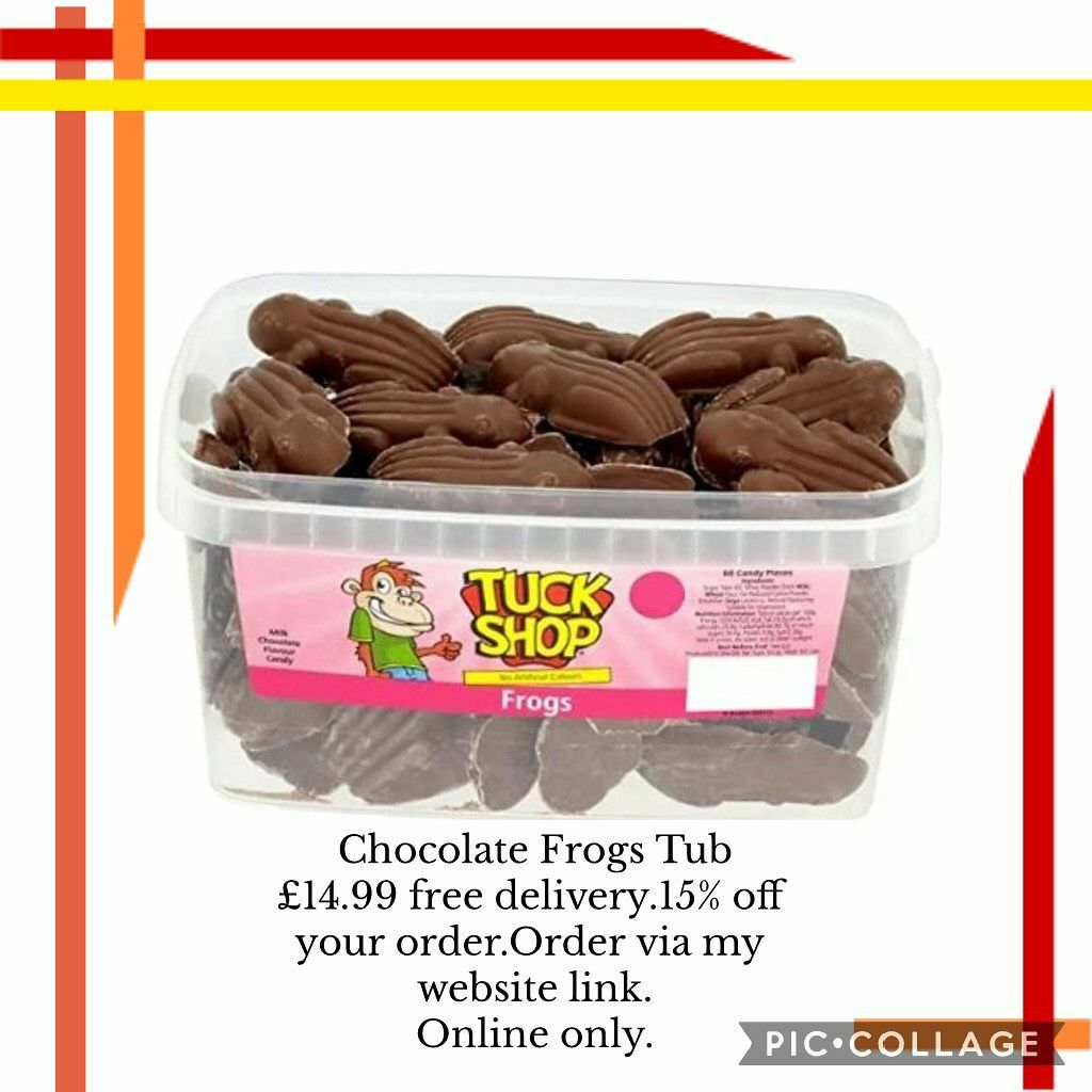 Yummy sweets  🐸Chocolate Frogs Tub 💥£14.99 🚛free  delivery.