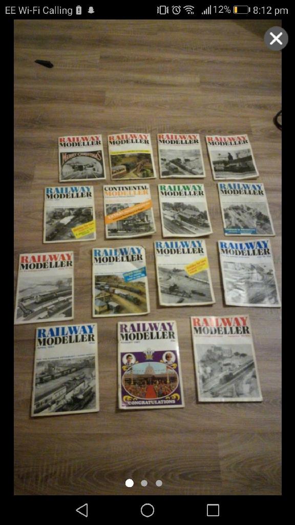 15 railway modellers magazines