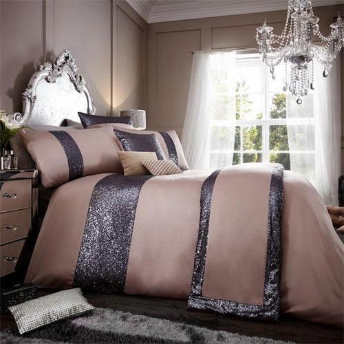 Glamorous chambray luxury duvet set