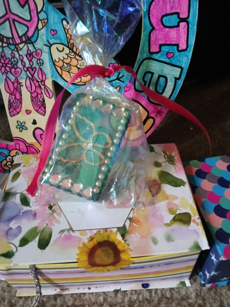Medium gift box stuffed with brand new fashion jewelry