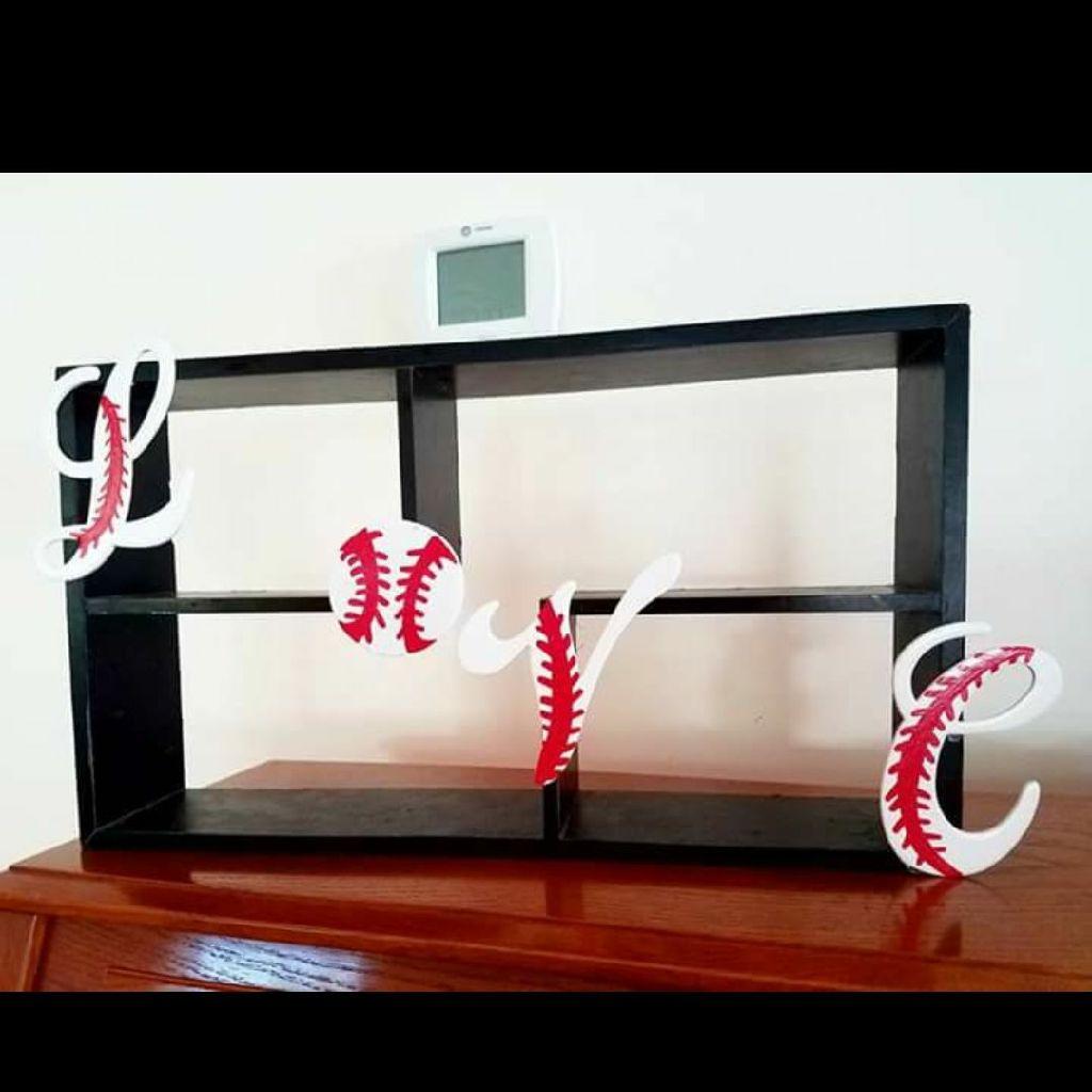 Love baseball shelf