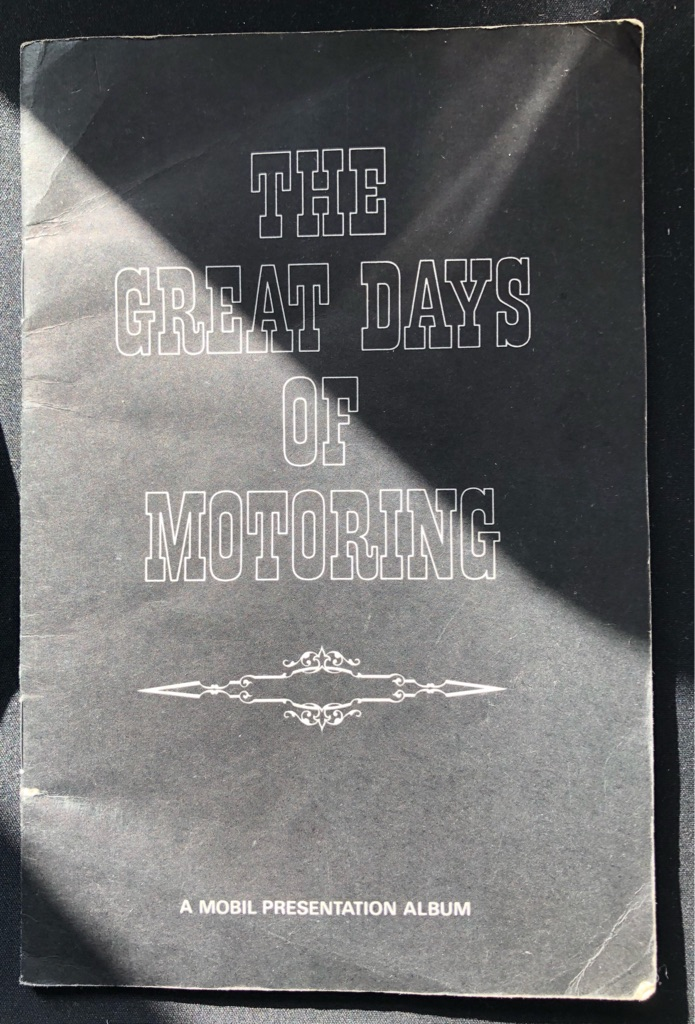 MOBIL VINTAGE CAR CARDS COLLECTION BOOK
