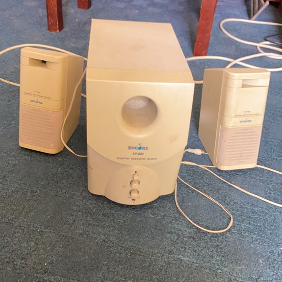 Small speakers and subwoofer
