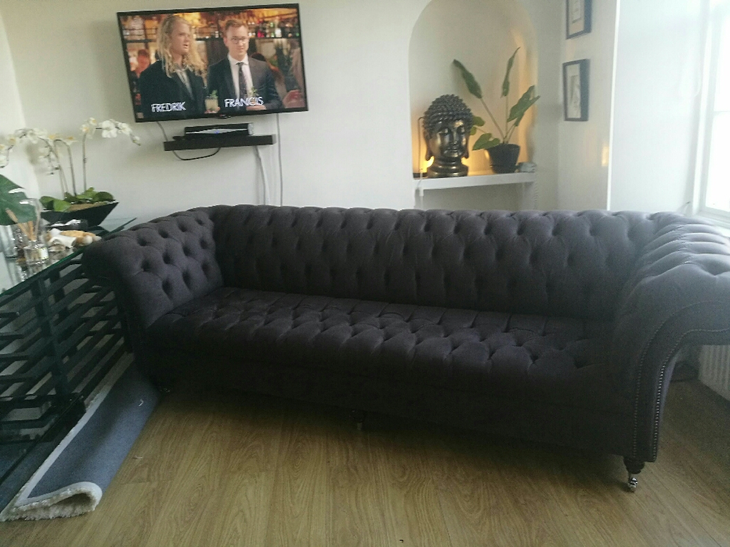 4seater slate grey sofa !