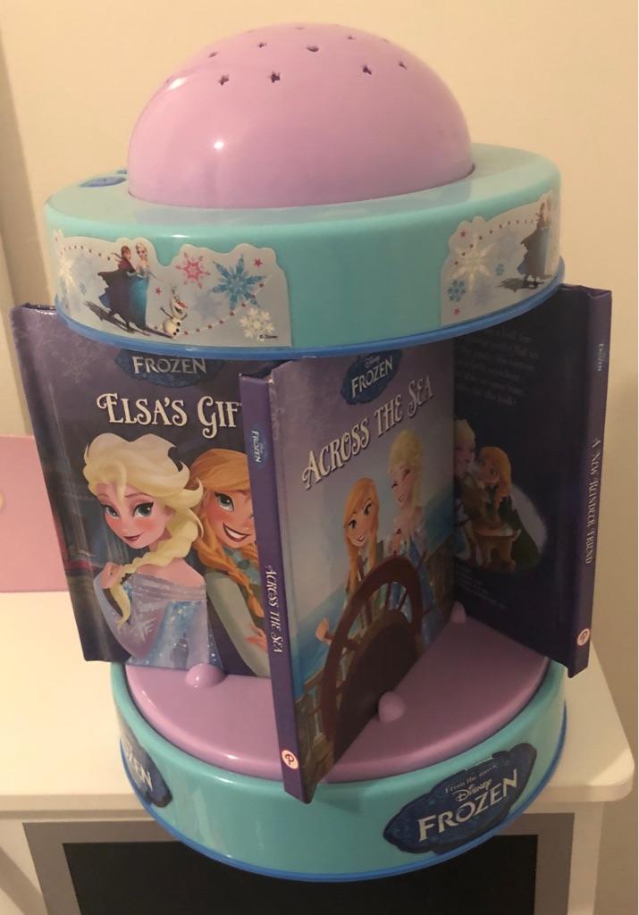 Disney Frozen Sweet Dreams Library 5 Books Light Projector Musical Carousel.