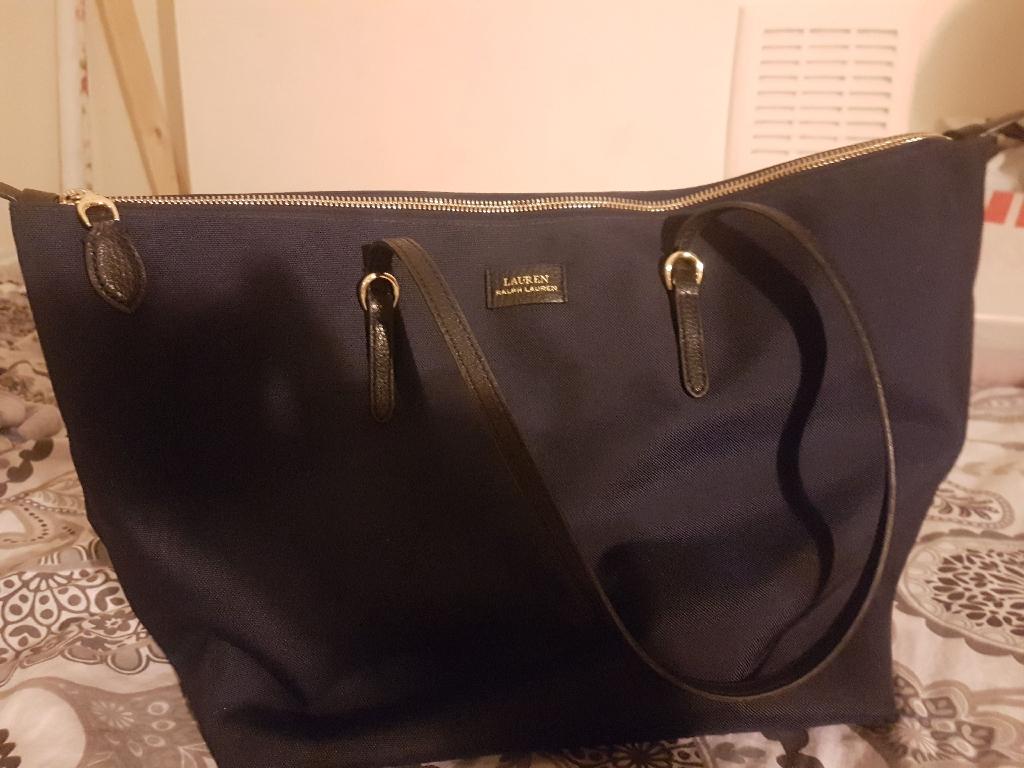 Womens ralph Lauren handbag navy blue