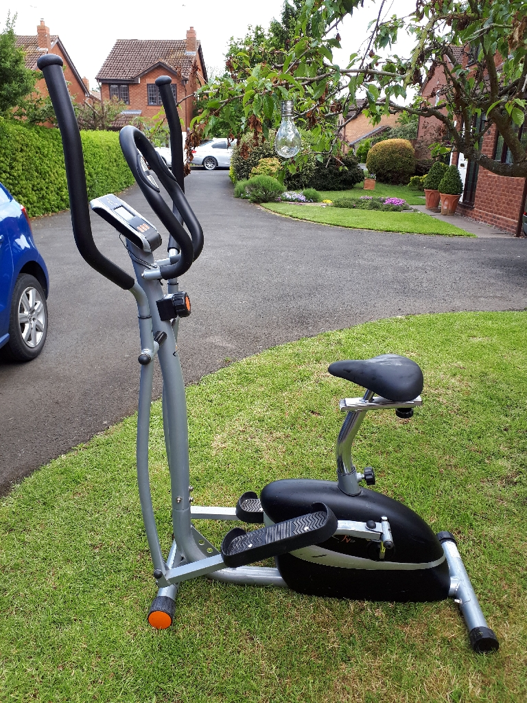 V Fit bike and cross trainer