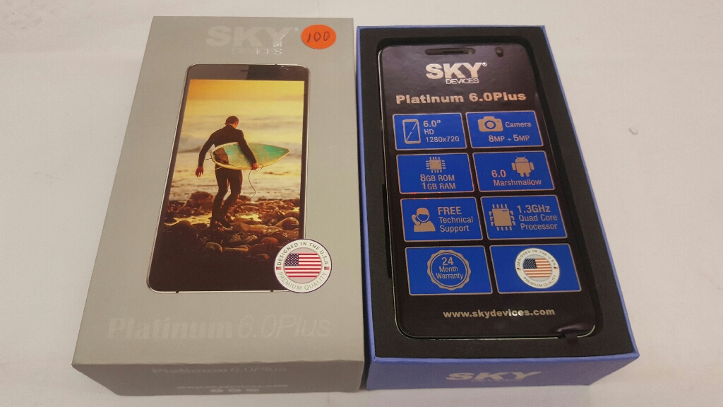 unlocked Int'l Phone sky 6.0 plus factory New