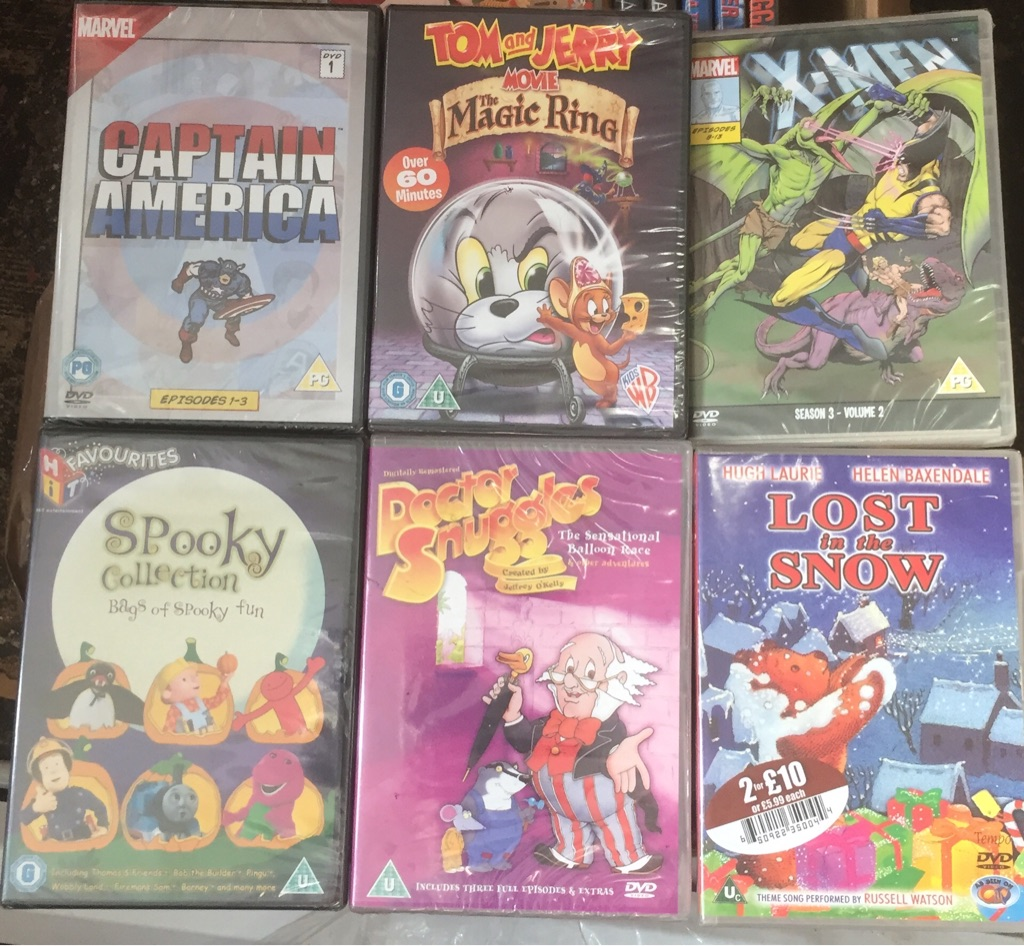 X6 children's DVD's brand new and factory sealed