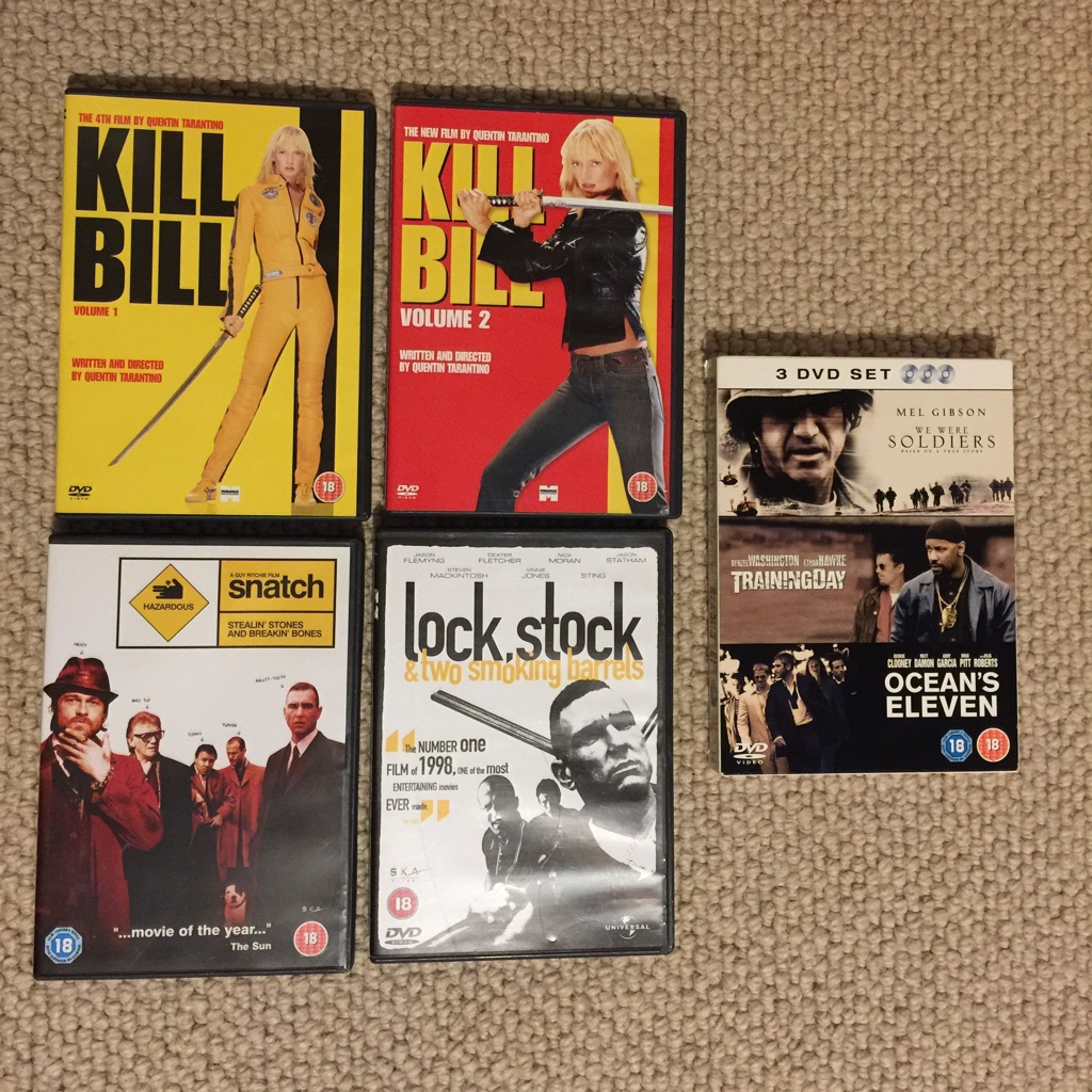 DVD Bundle (7 movies, all certificate 18)