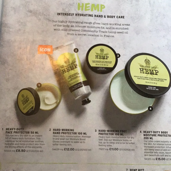 The body shop hemp hand and body care