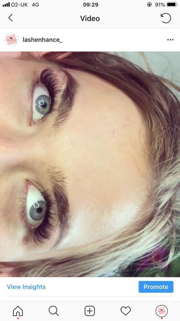 Semi permanent eyelash extensions 🧚🏼♀️