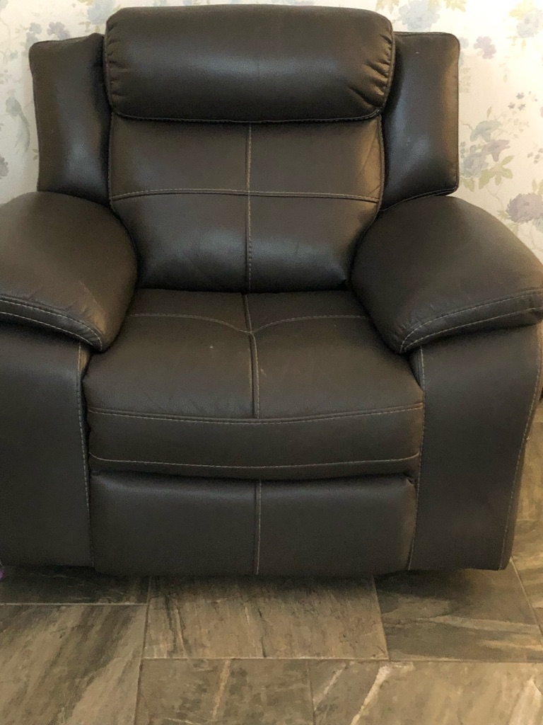 Grey Recliner Sofa & Chair